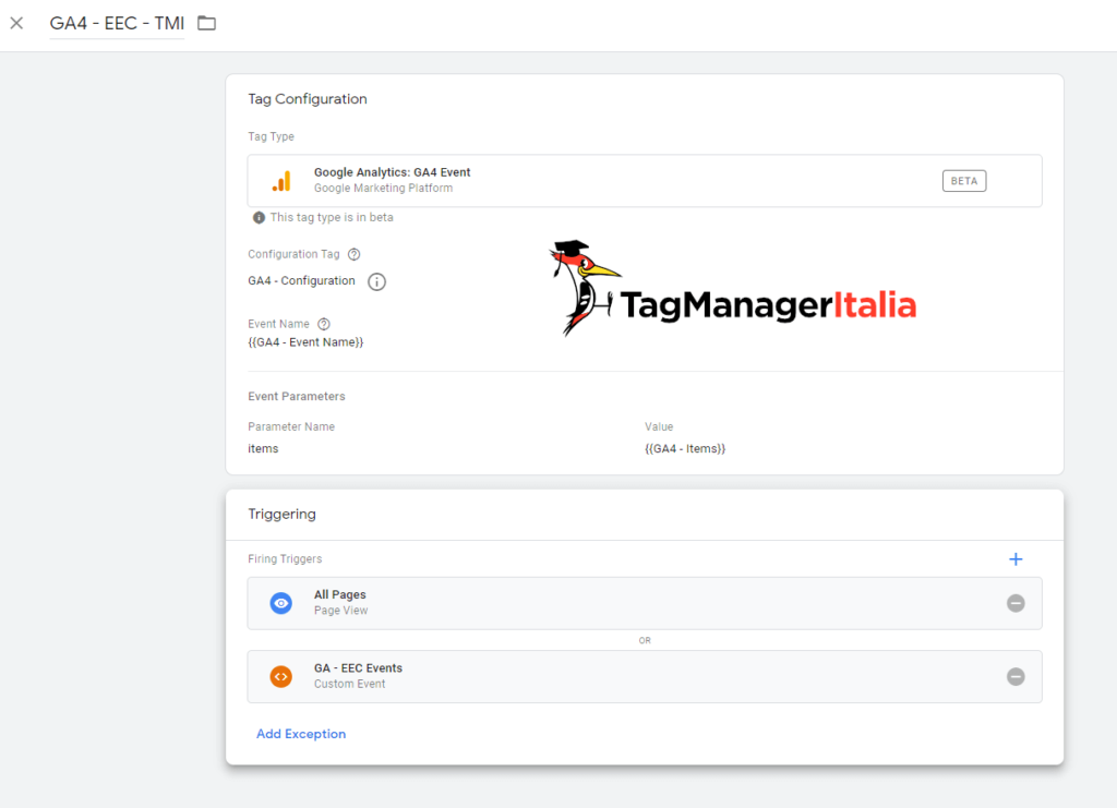 Google Analytics 4 Ecommerce Events with Google Tag Manager - Matteo Zambon