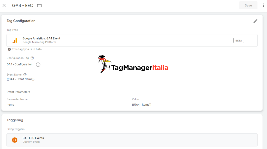 Google Analytics 4 Ecommerce Events with Google Tag Manager with specific events - Matteo Zambon