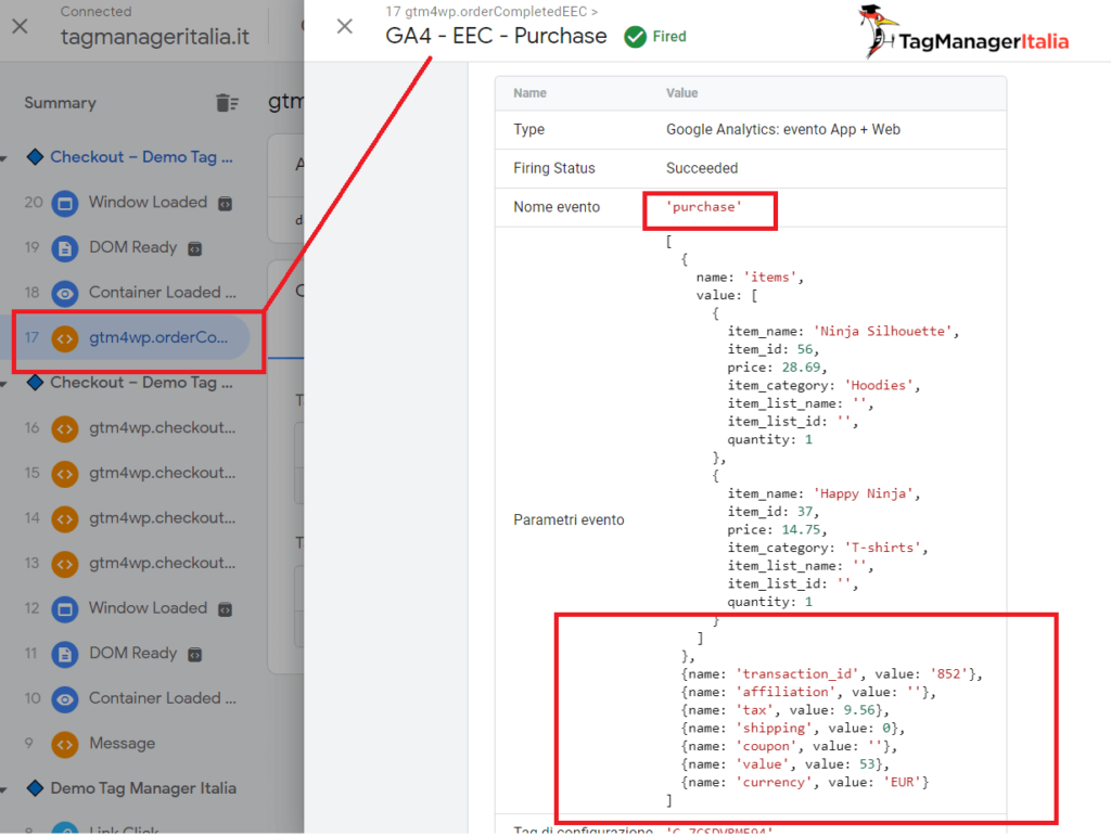 debug google analytics 4 purchase with google tag manager