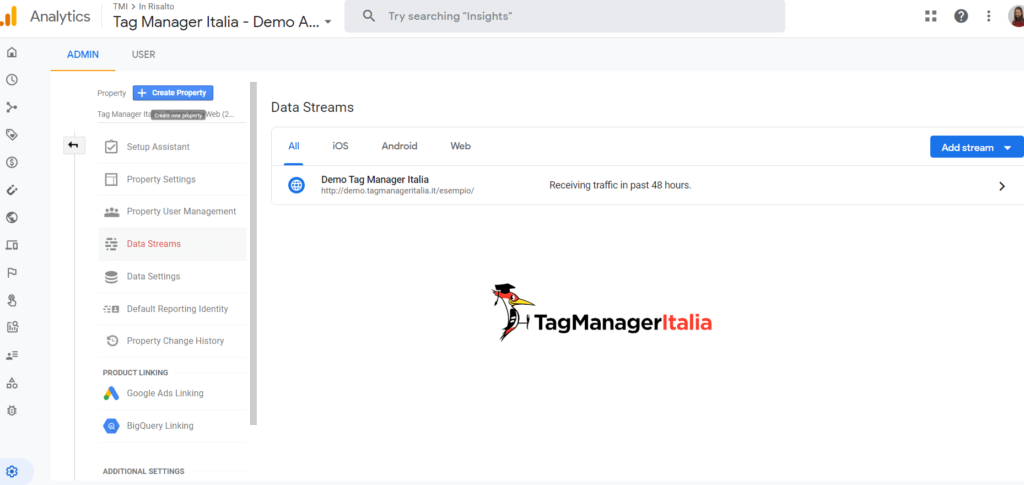 google analytics 4 data streams
