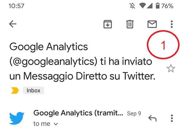 google analytics 4 - twitter segnalazione
