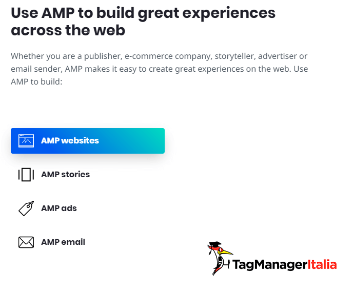 The use cases of AMP pages