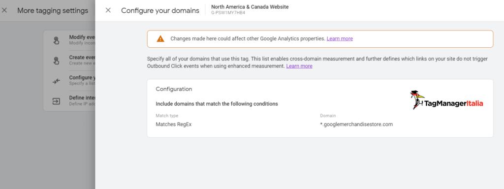 cross domain google analytics 4