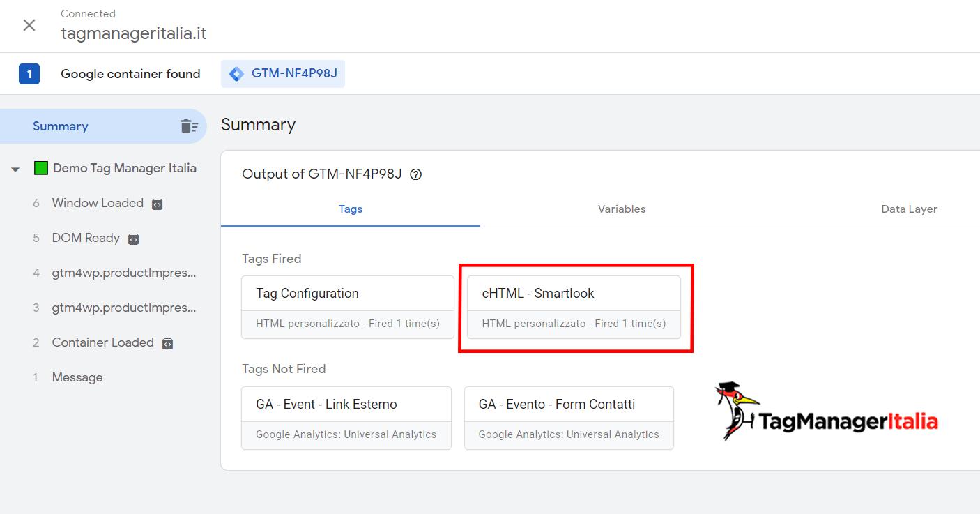 check debug preview mode smartlook google tag manager