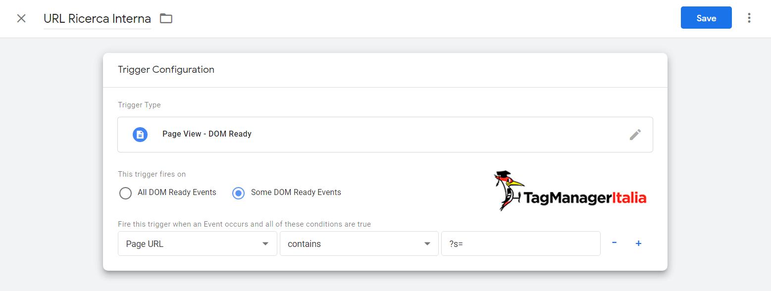 variabile2 tracciare ricerca interna sito no risultati