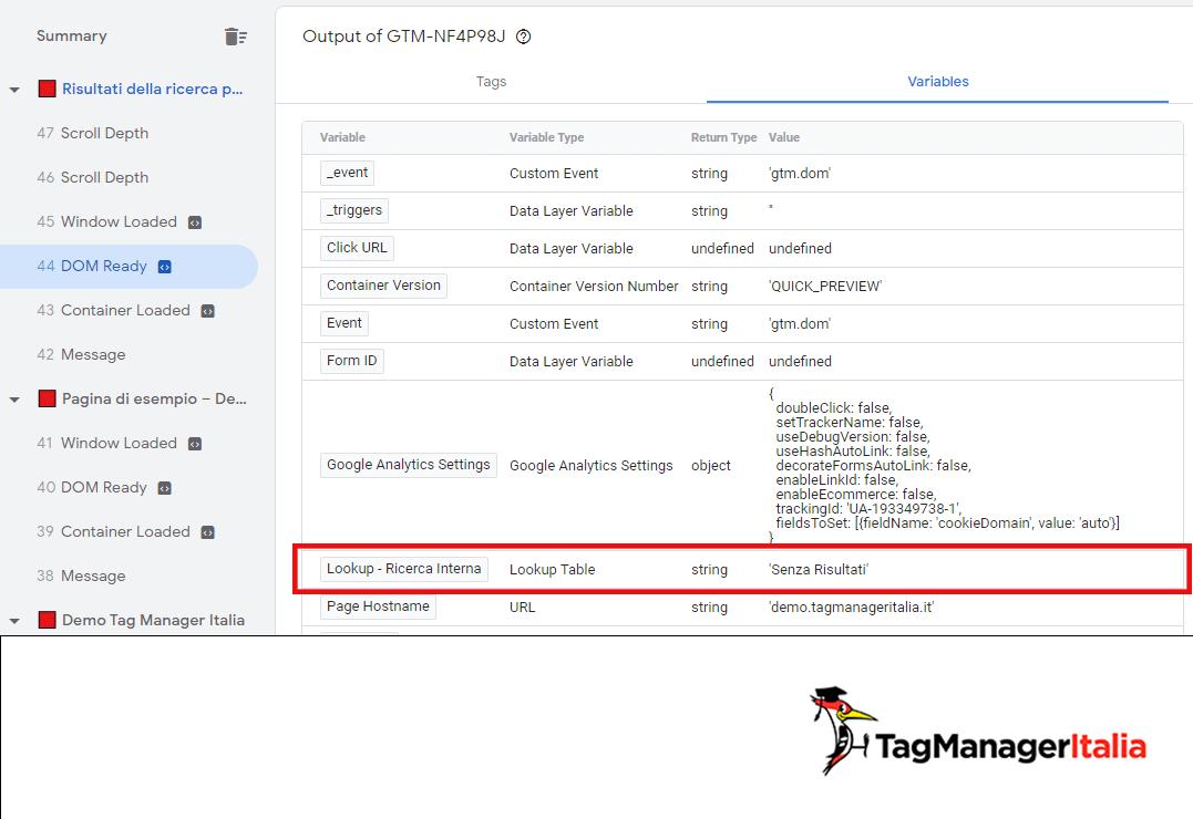 anteprima3 tracciare ricerca interna sito no risultati