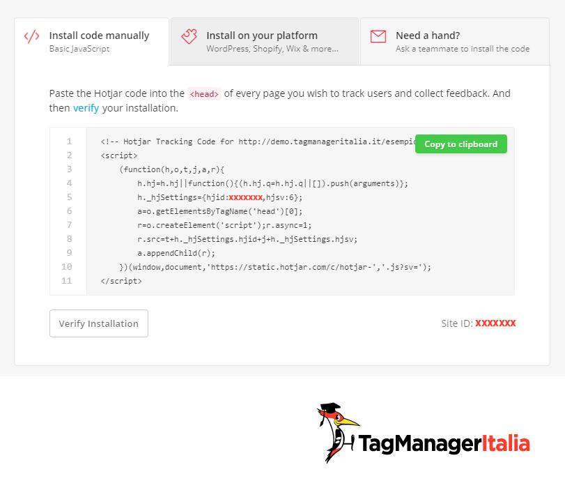 snippet hotjar google tag manager