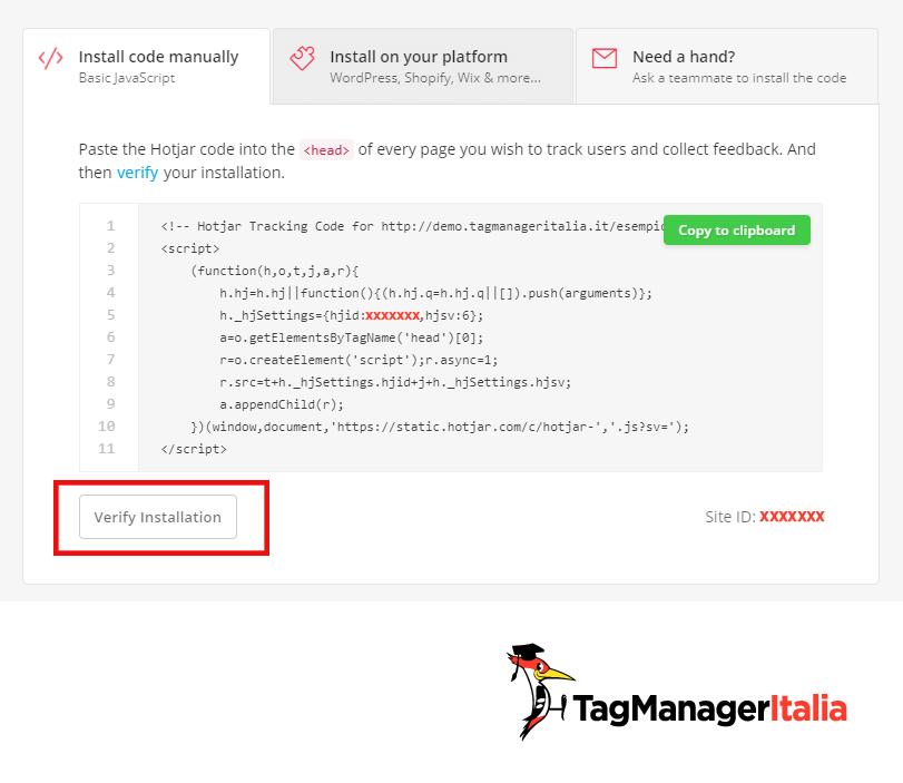 snippet hotjar google tag manager tracking 1