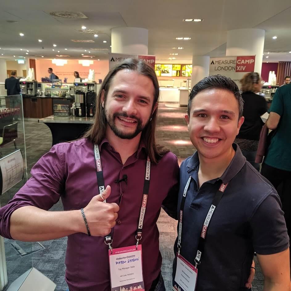 Matteo Zambon and Julian Juenemann measurecamp london 2019