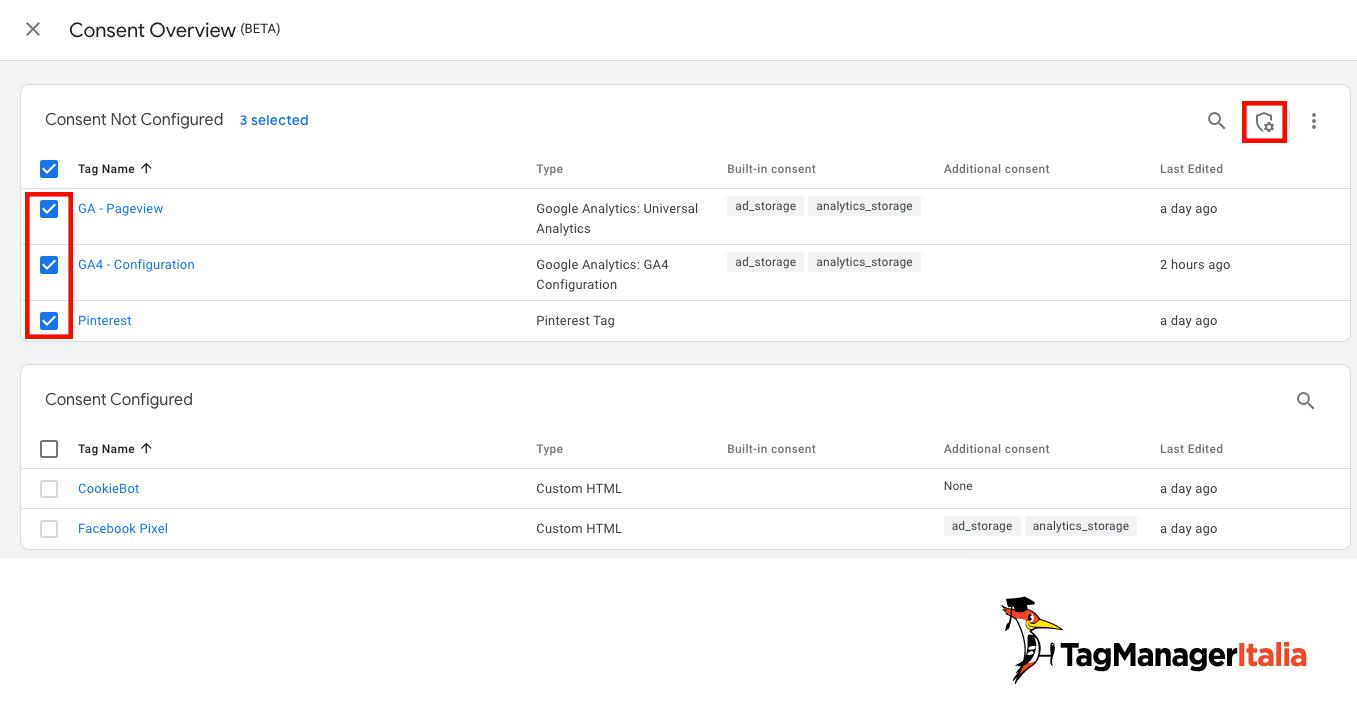 bulk edit consent mode