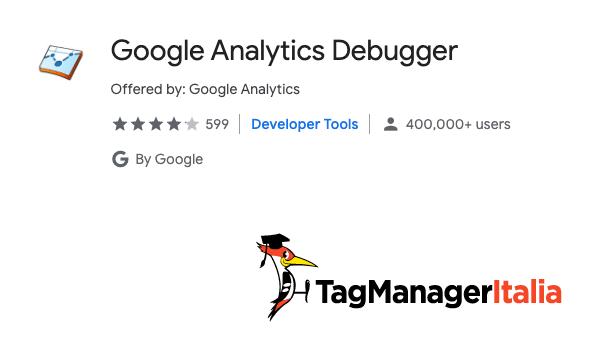 installare estensione chrome google anlytics debugger