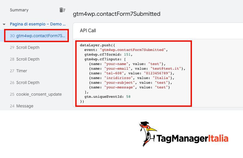 push dataLayer invio form plugin duracell tomi
