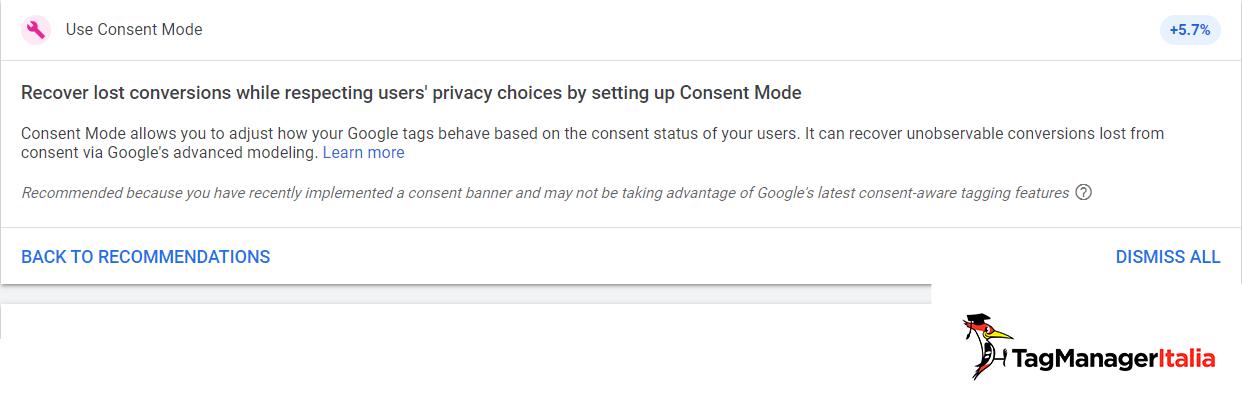 recuperare le conversioni in google ads attraverso il consent mode con google tag manager