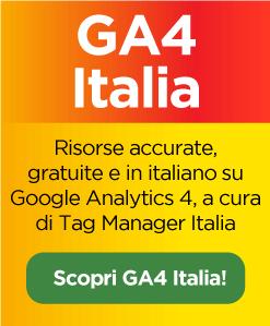 Scopri GA4 Italia